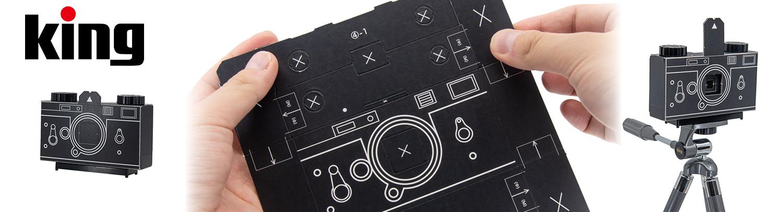 【新製品】King ピンホールフィルムカメラ KPC-135 紙製組み立てキット 発売のご案内